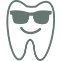 An illustration of a tooth wearing sunglasses.